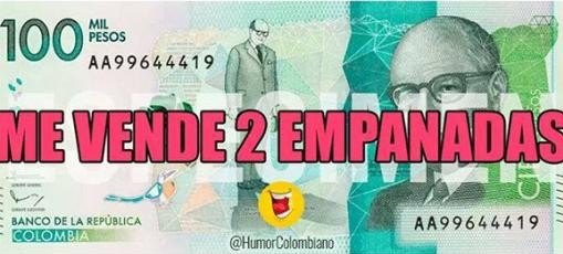 Billete de cien mil pesos meme