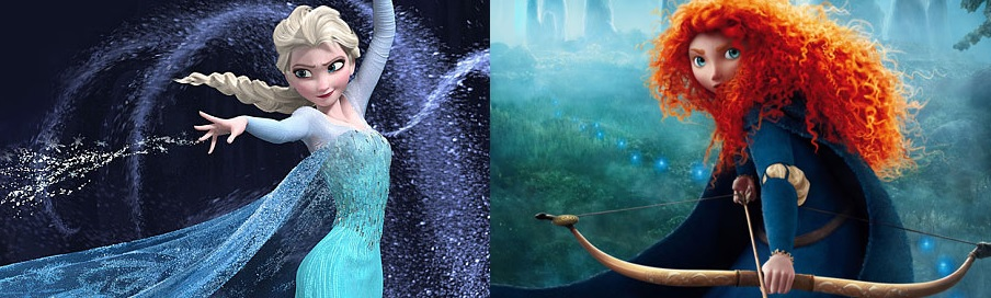Elsa Frozen Merida Brave