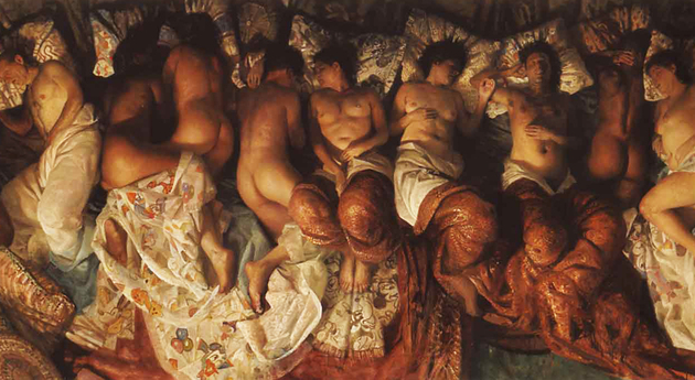 Vincent Desiderio Sleep Kanye West video Famous