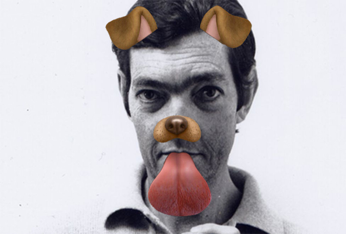Julio Cortázar Snapchat Dog filter
